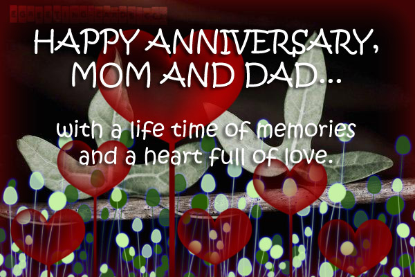 Anniversary wishes for parents home